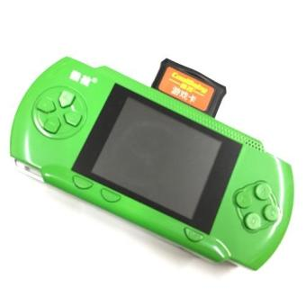 Children's Books color handheld game consoles Cool child RS-2Alarge-screen 3.2 inch FREE Built-in 280 games CRAD Rechargeablegame (GREEN)