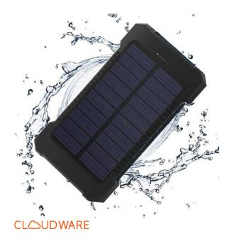 Cloudbank - 20,000Mah Waterproof, Solar Panels, Flashlight Powerbank