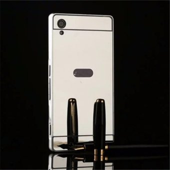 Elaike For Sony Xperia Z2 2 in 1 Luxury Aluminum Metal Mirror PCPhone Cover Case (