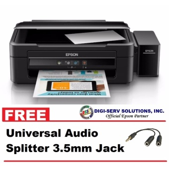 Epson L360 Multi-Function Ink Tank Printer with FREE Universal Audio Splitter 3.5mm Jack
