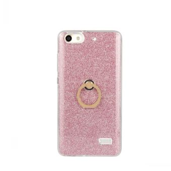 For 4C support fastened ring stick to leather glitter phone case
