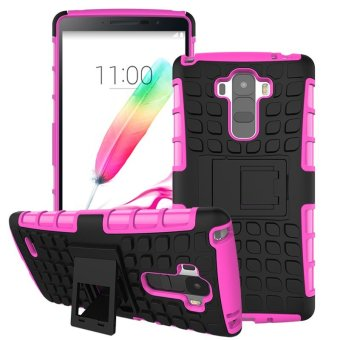 For LG G4 Stylus Case G Stylo Heavy Duty Armor Shockproof HybridHard Soft Rugged Rubber Phone Case Cover - intl