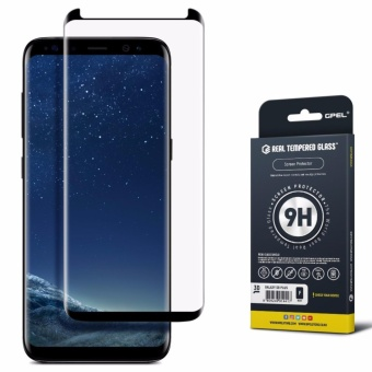GPEL Samsung Galaxy S8 Plus Tempered Glass [S8 Plus] [Case Friendly] Screen Protector , Premium Japanese Asahi Glass - (Black)