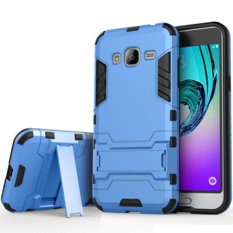 Heavy Duty Dual Layer Drop Protection Shockproof Armor Hybrid SteelStyle Protective Cover Case with Self Stand for Samsung Galaxy J2Prime - intl
