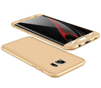 Hicase 360 Degree All-around Ultra Thin Full Body Coverage Protection Dual Layer Hard Slim Case For Samsung S7 edge Gold - intl