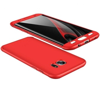 Hicase 360 Degree All-around Ultra Thin Full Body Coverage Protection Dual Layer Hard Slim Case For Samsung S7 edge Red - intl