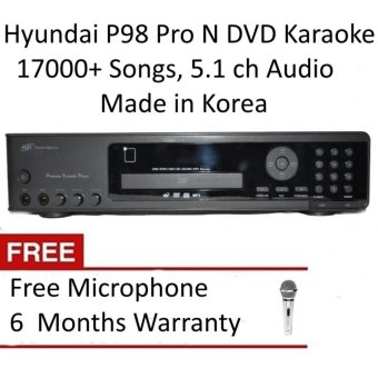 Hyundai P98 Pro N DVD Karaoke Player with 18270 Songs, FreeMicrophone