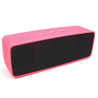 IOS Portable Wireless Bluetooth Dual Speaker Ultra Bass (Pink)