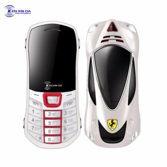 Kenxinda Mobile Q5 Basic Bar Phone Dual SIM FM Radio Camera (White)