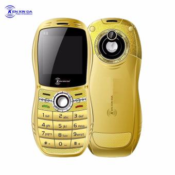 Kenxinda Mobile R8 Basic Bar Phone Dual SIM Bluetooth FM Radio Camera (Gold)