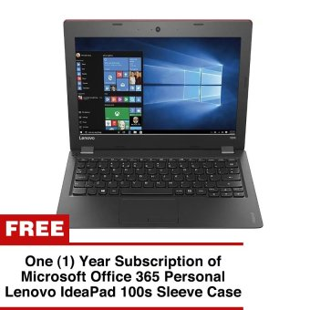 "Lenovo Ideapad 100S-11-IBY 11.6"" Intel Atom Z3735F 2GB RedWindows10"