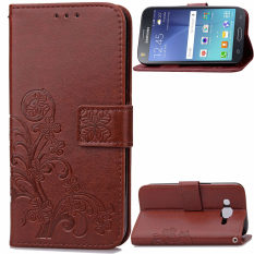Lucky Clover PU Leather Flip Magnet Wallet Stand Card Slots Case Cover for