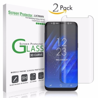 LUOWAN Galaxy S8 Plus Glass Screen Protector,[2 pack] New Curved Tempered Glass Screen Protector Film [Non-full screen][Bubble Free ][Scratch Resistant][Easy Installation] For Samsung Galaxy S8 Plus 6.2 inch(Clear) - intl