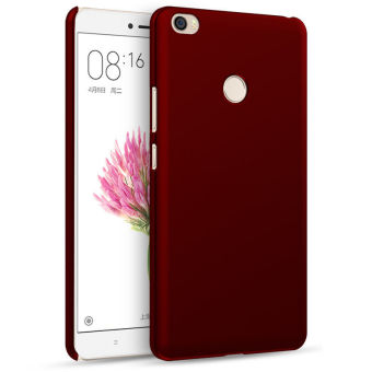 Luxury Simple Case Hard PC Back Cover Case for Xiaomi Mi Max 6.44inch (Red)