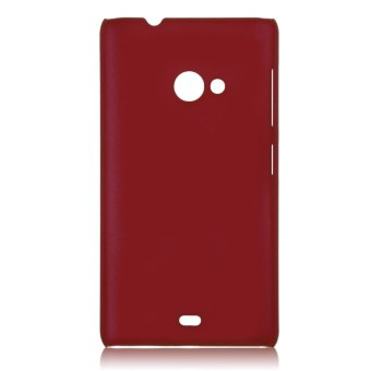 Matte Hard Skin Back Case Cover for Microsoft Lumia 535 / RM-1090Dark Red