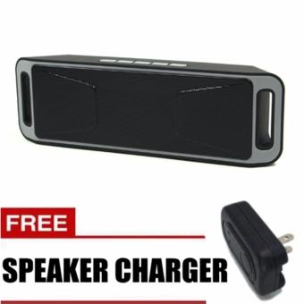 Megabass A2DP Stereo Wireless Bluetooth Dual Speaker GREY with FREESpeaker Charger