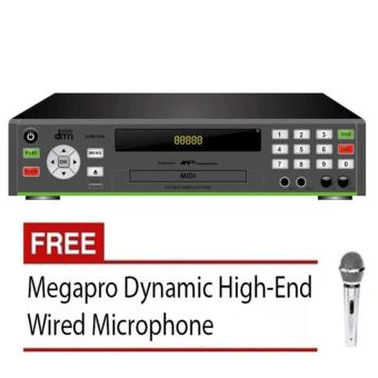 Megapro Doremi D-800 DVD Karaoke Player (Black) with Free MegaproMicrophone