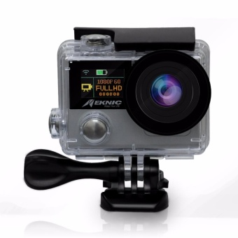 Meknic X6 4k Ultra HD Wi-fi 30fps Ambarella A12S75 Chipset Sport Action Camera With Remote Control (Silver)