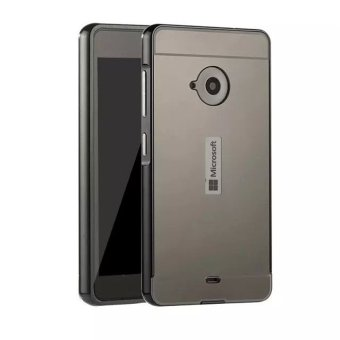 Metal Aluminum Frame + Pc Mirror Back Case for Microsoft Lumia 535(Black) - intl