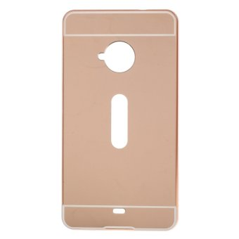 Metal Bumper + Acrylic Back Phone Case for Microsoft Lumia 535/535Dual SIM (Rose Gold) - intl