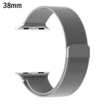 Milanese Loop Strap Stainless Steel band For Apple Watch 38mm wristband Series 1/2/3 - intl