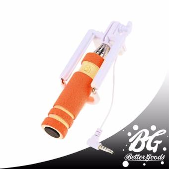 MINI Foldable All-In-One Monopod with Remote Clicker (Orange)