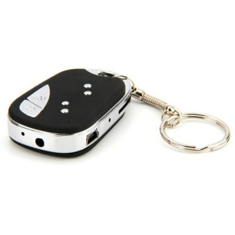 Mini micro-camera Key Chain Hidden Camera HD Spy Detection DVR DV Video Recorder - intl