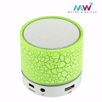 Mini Portable Wireless Bluetooth Speaker w/ LED A9F (Green)