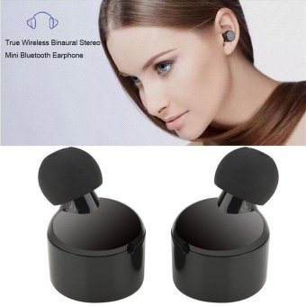 Mini True Wireless Bluetooth Twins Stereo In-Ear Headset Earphone Earbuds - intl