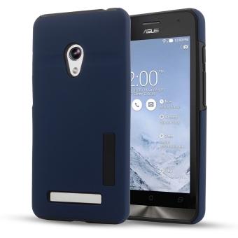 Moonmini Hybrid Combo Shockproof Back Case Cover for Asus Zenfone 5(Dark Blue)