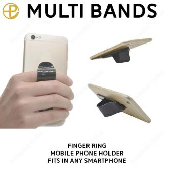 Multi Band Finger Ring Mobile Phone Smartphone Stand Holder For iPhone Samsung HTC Sony LG Xiaomi Smartphone (Grey)