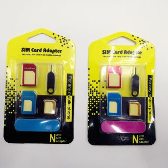 Nano to Micro SIM to Standard SIM Card Adapter 5-in-1 Tools Kit BUY1 TAKE 1