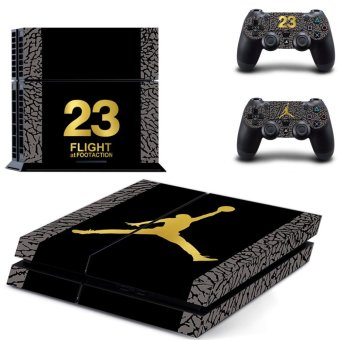 New basketball No.23 Vinyl Decal PS4 Skin Sticker For Sony Playstation 4 PS4 Console protection film and 2Pcs Controller Protective skins - intl