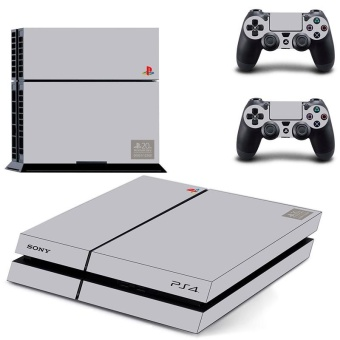 New PS1 style 20th Anniversary Vinyl Decal PS4 Skin Sticker For Sony Playstation 4 PS4 Console protection film and 2Pcs Controller Protective skins - intl