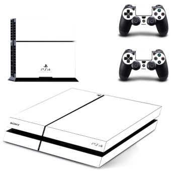 new pure withe decal PS4 Skin Sticker For Sony Playstation 4 Console protection film +2Pcs Controllers protective cover - intl
