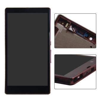 New white black purple LCD display Touch Screen Digitizer with Frame Assembly repair part For Sony Xperia Z L36H L36 LT36 C6603+3m Tape+Opening Repair Tools+glue - intl