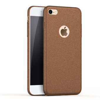 NingMao Smoothly Rock Sand Matte Shield Hard Cover Skin Shockproof Ultra Thin Slim Full Body Protective Scratch Resistant Slip Case for iPhone 6/6s (Frosted Brown) - intl