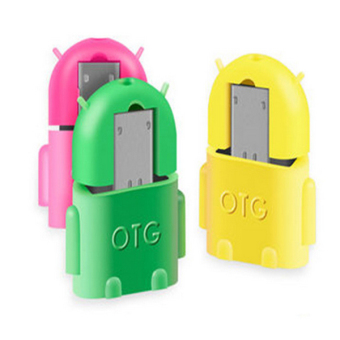 OTG Adapter Connector for Mobile Phone to USB Flash Disk Tablet PC(Yellow) - Intl