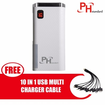 PHstandard SPN-999 20800mAh Power Bank with Lighthouse and ColorLogo with free 10 In 1 USB Multi Charger Cable For IPhone /Nokia/Samsung /HTC, Charger Cable, Charger, Iphone, Phone