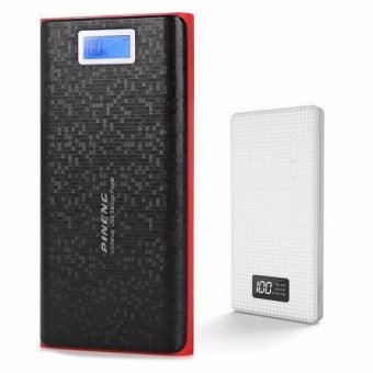 Pineng PN-920 20000mAh Power Bank (Black/Red) with Pineng PN-963 10000mAh Power Bank (White)