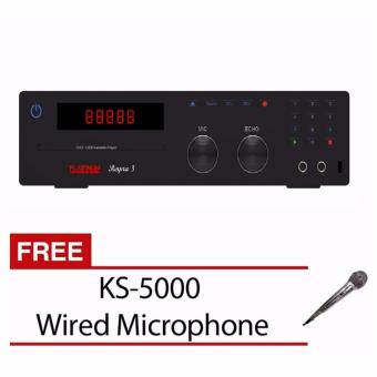 Platinum Reyna 3 Karaoke Player in built 17,000 songs with FREE KS-5000 Wired Microphone
