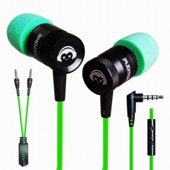 PLEXTONE G10 In-Ear Headphones Gaming Headset Noise CancellingSports Stereo Bass Earphone with Mic - Green - intl