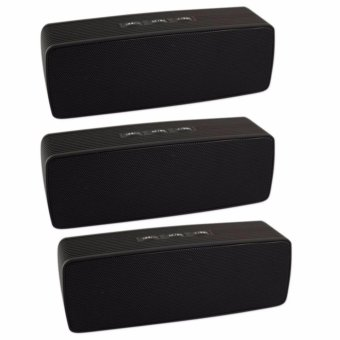 Portable Bluetooth Dual Speakers Ultra Bass (Black) SET OF 3