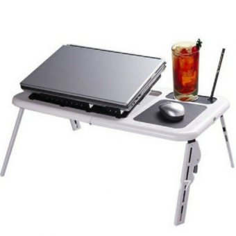 Portable Foldable Laptop E-Table With Cooling Fan