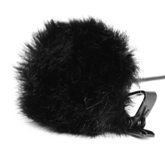 Portable Furry Microphone Windscreen Muff Artificial Fur WindshieldWind Muff for Mini Clip-on Lapel Lavalier Microphone Mic Black -intl
