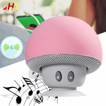 Portable Mini Mushroom Wireless Bluetooth Speaker (Pink)