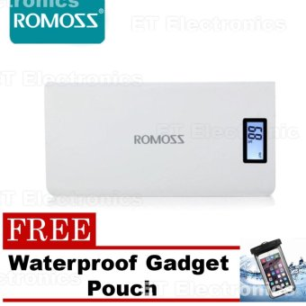 Romoss Sense 6 Plus 20000mAh Power Bank (White) and with Gadget Pouch