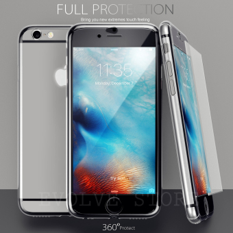 Roybens 360 Degree Full Body Protect Hard Slim Case Cover with Tempered Glass for iPhone 6 Plus / 6S Plus (Clear)(Export)(Intl)