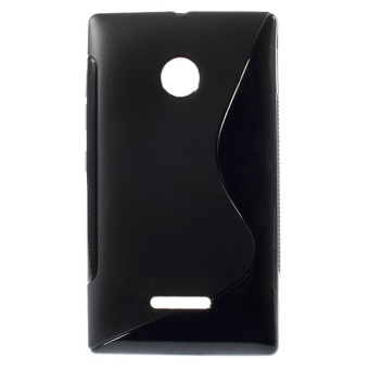 S Line Flexible TPU Protective Case Cover for Microsoft Lumia 532435 (Black) - intl