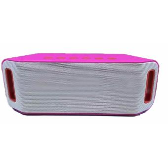S204 Super Bass Portable Wireless Bluetooth Speaker (Pink)